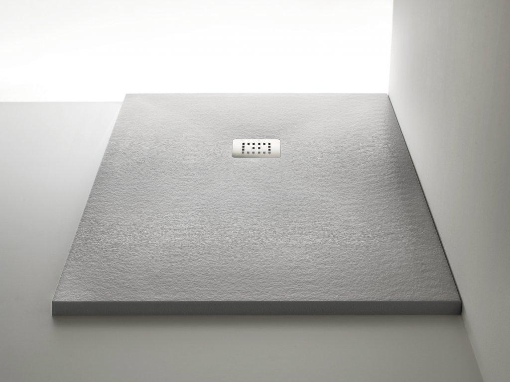 Piatto doccia effetto legno simple piatto doccia in pietra sintetica su misura with piatto - Piatto doccia raso pavimento ...